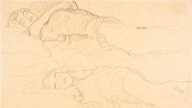 Photo of 'Dos tumbados': el dibujo de Gustav Klimt sale del armario