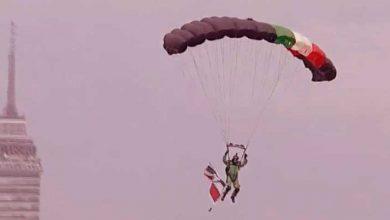 Photo of Accidente de un paracaidista en el Zócalo durante el Desfile Militar