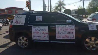Photo of Más de 800 automovilistas protestan contra AMLO en León