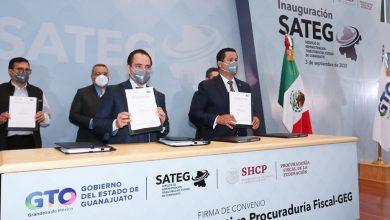 Photo of Diego Sinhue y Arturo Herrera inauguran SATEG