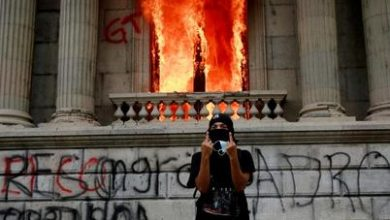 Photo of Arde el Congreso de Guatemala
