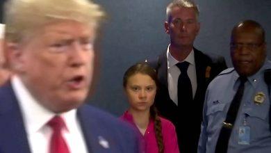 Photo of Greta trolea a Trump