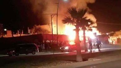 Photo of Llamas de 6 metros en el incendio de un almacén de tarimas en León