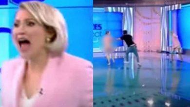 Photo of Mujer desnuda ataca con un ladrillo a la presentadora