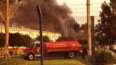 Photo of Fuego en la sede de Hutchinson en Cortazar