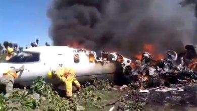Photo of Se incendia un avión militar en Xalapa: hay 6 muertos
